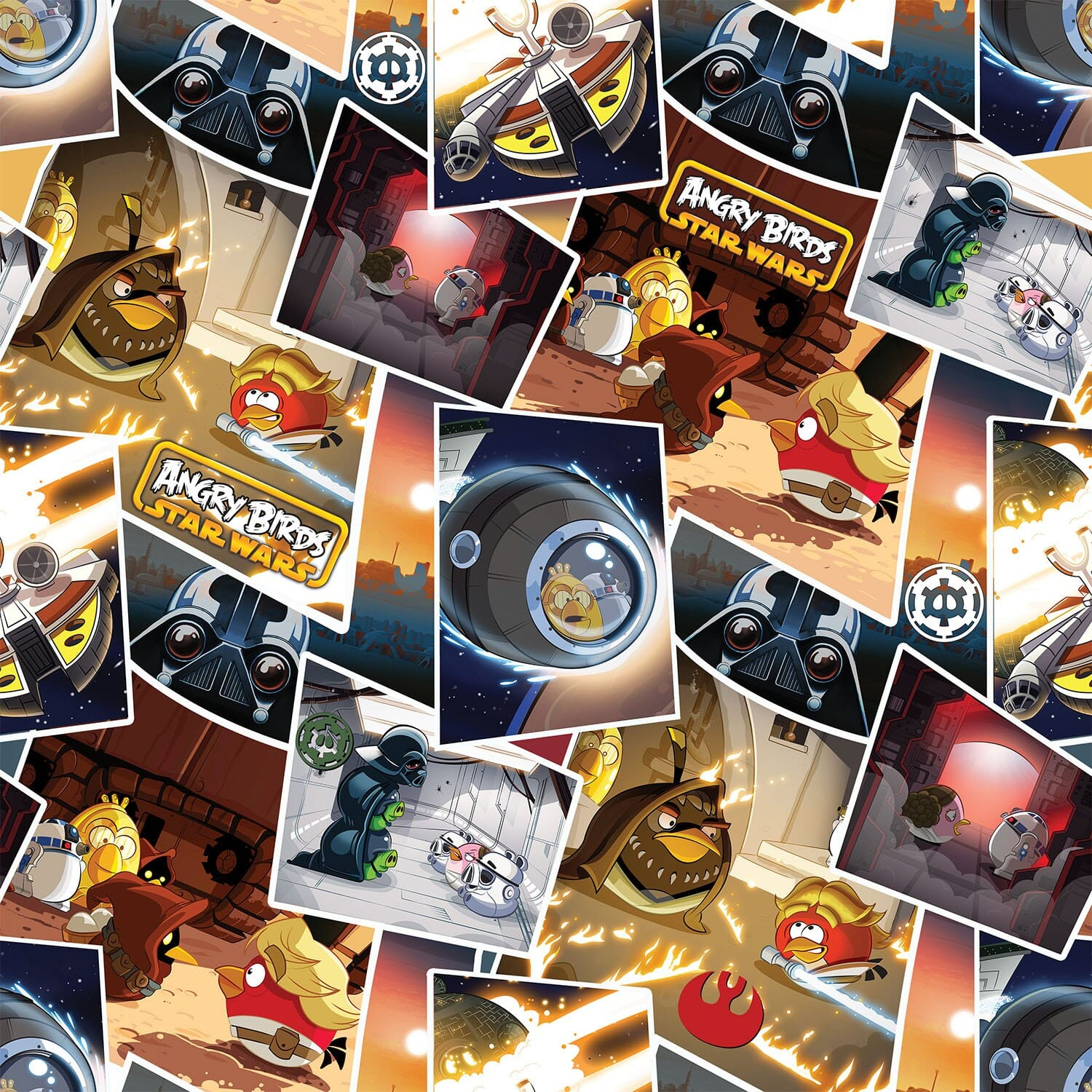 Patchwork Fabric Childrens Angry Birds Star Wars Fabric Classic Scenes