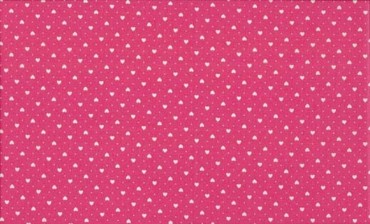 Patchwork Fabric Hearts Pink