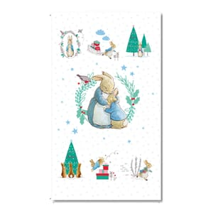 Peter Rabbit Characters Fabric Panel 110x60cm
