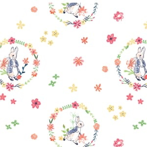 Peter Rabbit Flowers and Dreams Floral Wreath White