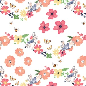 Peter Rabbir Flowers and Dreams Large Florals White