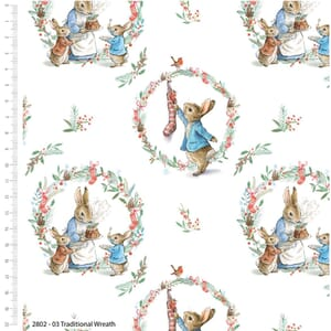 Peter Rabbit Christmas Traditions Wreath