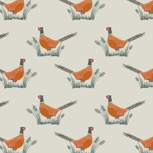 Lewis and Irene Country Life Reloved Pheasants Dark Cream