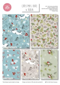 Christmas Hare and Robin Fat Quarter Pack