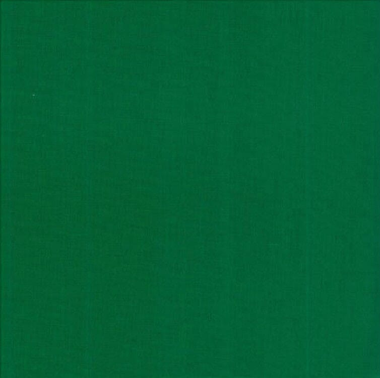 Plain Christmas Green Patchwork Fabric 100% Cotton 60 Inch Wide