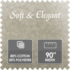 Soft & Elegant Wadding, 80/20% Cotton/Polyester, 90 Inch Wide