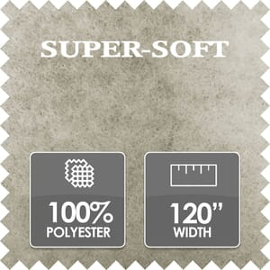 Super Soft Wadding, 100% Polyester, 120 Inch Wide