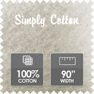 Simply Cotton Wadding, 100% Cotton, 90 Inch Wide