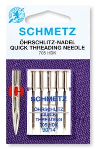 Schmetz Sewing Machine Needles Quick Easy Thread Size 80/12 Pack of 5