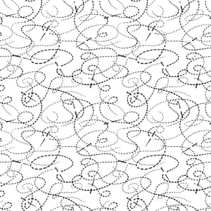 Small Image of Quilt Backing Fabric 108 Inch Wide Needle & Thread White Cotton Fabric