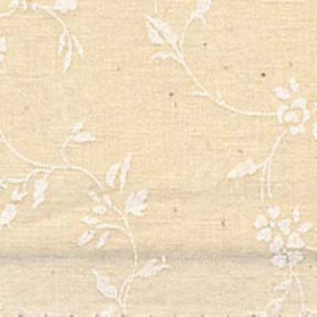Quilt Backing Fabric 108 Inch Wide Tone on Tone White On Natural Floral Cotton Fabric