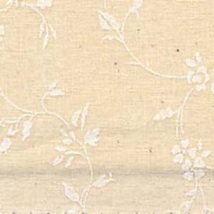 Small Image of Quilt Backing Fabric 108 Inch Wide Tone on Tone White On Natural Floral Cotton Fabric