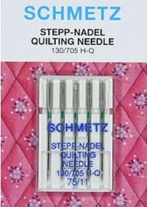 Schmetz Sewing Machine Needles Quilting Size 75/11 Pack of 5