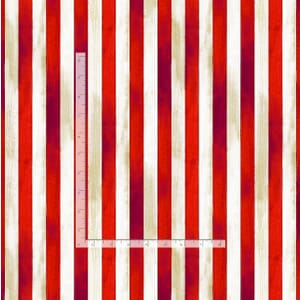 Timeless Treasures Fabric Red And Off White Stripe