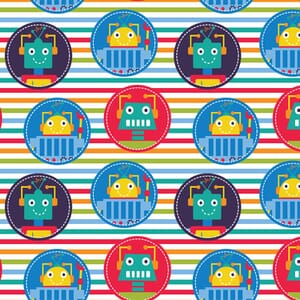 Visage Robot Dreams Badge Fabric