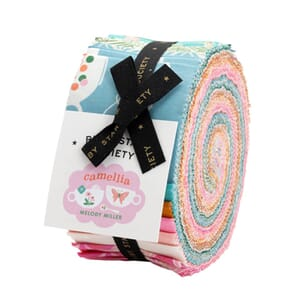 Large Image of the Ruby Star Camellia Jelly Roll