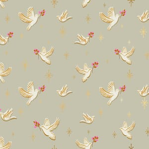 Ruby Star Candlelight Prints Doves Wool