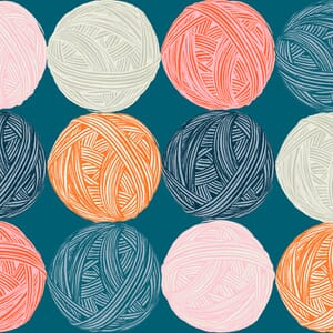 Ruby Star Fabric Purl Wound Up Teal RS2030 12