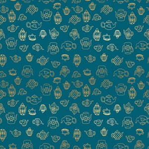 Ruby Star Fabric Purl Tea Time Teal RS2035 16M