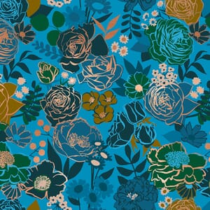 Ruby Star Fabric Rise Grow Bright Blue RS0012 14M