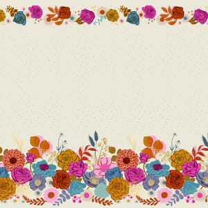 Ruby Star Fabric Rise Shine Double Border Shell RS0014 11M