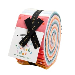 Large Image of the Ruby Star Hole Punch Dots Jelly Roll