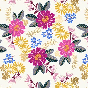 Large Image of the Ruby Star Reign Eminence Sweet Cream Fabric RS1026 11M