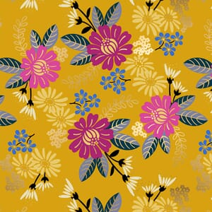 Large Image of the Ruby Star Reign Eminence Goldenrod Fabric RS1026 12M