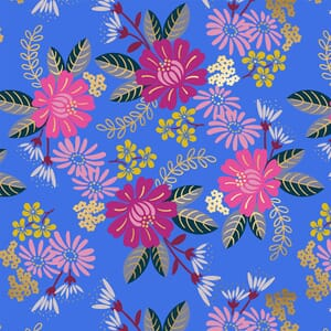 Large Image of the Ruby Star Reign Eminence Royal Blue Fabric RS1026 15M