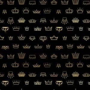 Large Image of the Ruby Star Reign Coronation Black Fabric RS1030 15M