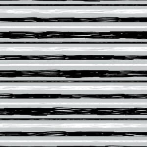 Safari Central Stripe Black and White Fabric