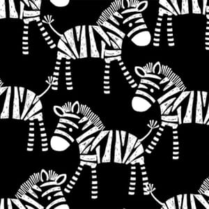 Safari Central Zebra Black and White Fabric