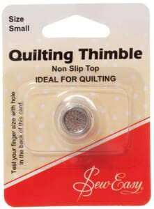 Sew Easy Quilters Thimble Non Slip Small