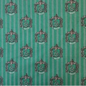 Harry Potter Slytherin House Quilting Fabric
