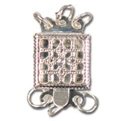 Small Image of Sq Necklace Clasp CH9302
