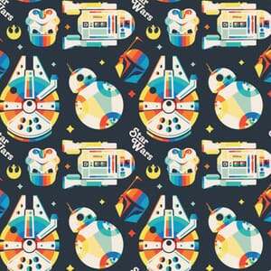 Star Wars Fabric Rainbow Retro