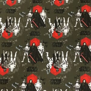 Visage Star Wars First Order Character Poses Fabric