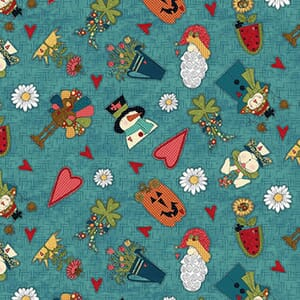 Base Image of Stof Doodle Days Calendar Quilting Fabric 4703-538