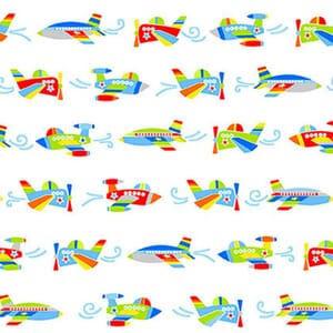 Base Image of Stof Air Show Quilting Fabric 4704-048