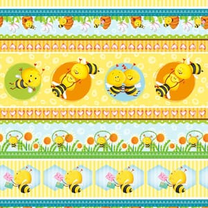 Base Image of Stof Busy Bees Quilting Fabric 4704-409