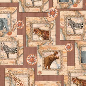 Base Image of Stof Out Of Africa Quilting Fabric 6200-441