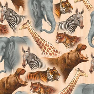 Base Image of Stof Out Of Africa Quilting Fabric 6200-443