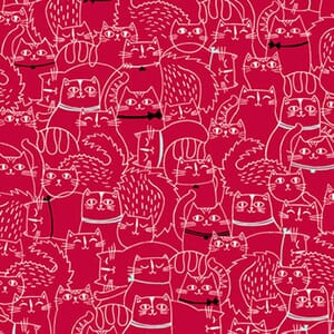 Base Image of Stof Cat Fish Quilting Fabric 6201-065