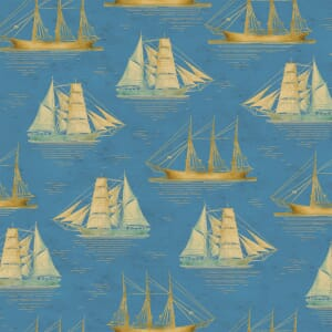 Base Image of Windham Tall Ship Quilting Fabric 2503-264