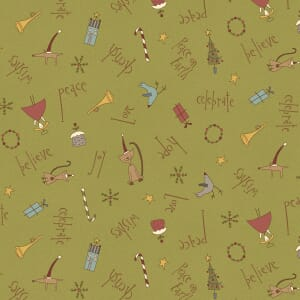 Base Image of Anni Downs Peace On Earth Quilting Fabric 4790-350