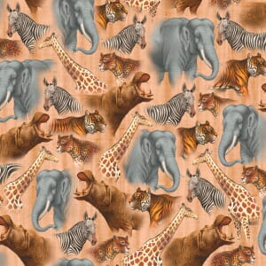 Base Image of Quilting Treasures Quilting Fabric Out Of Africa 6200-442