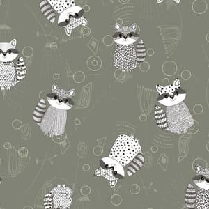 Base Image of Stof Quilting Fabric Rocky Raccoon 4500-910