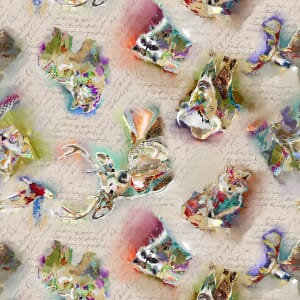 3 Wishes Fabric The Great Outdoors Animal Scatter Tan