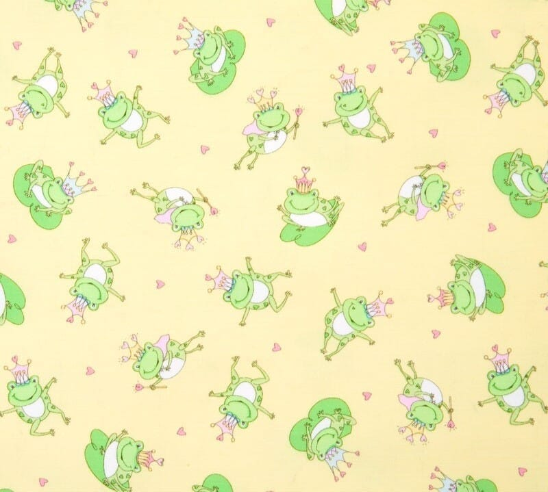 Timeless Treasures Patchwork Fabric Frog Prince