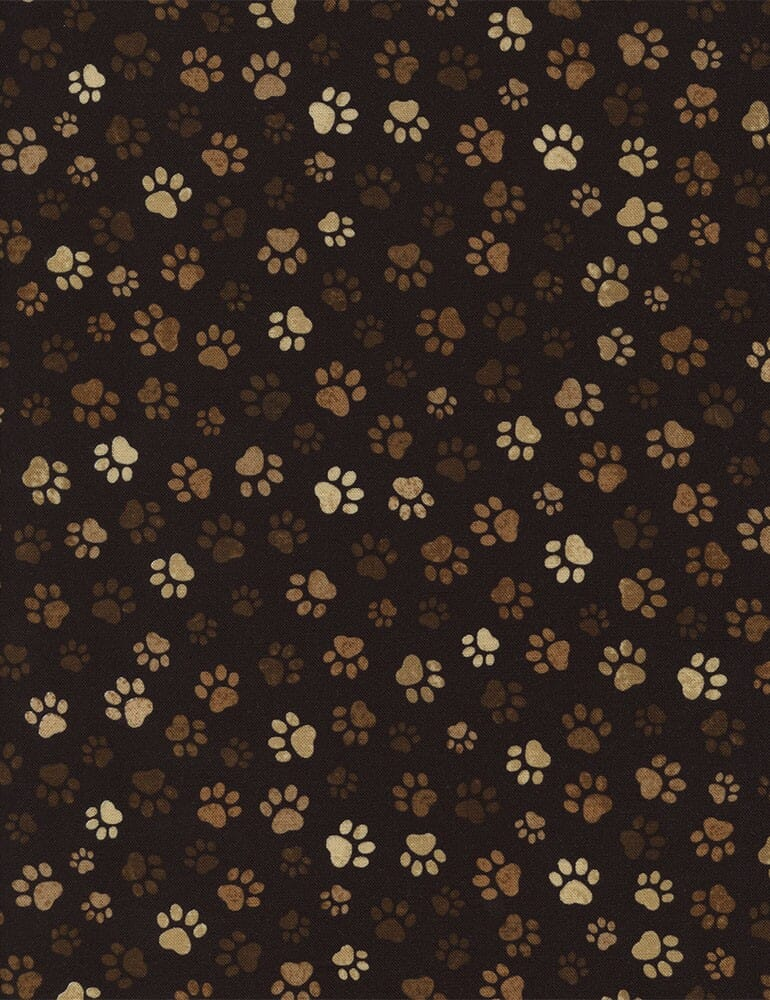 Timeless Treasures Patchwork Fabric Paw Prints